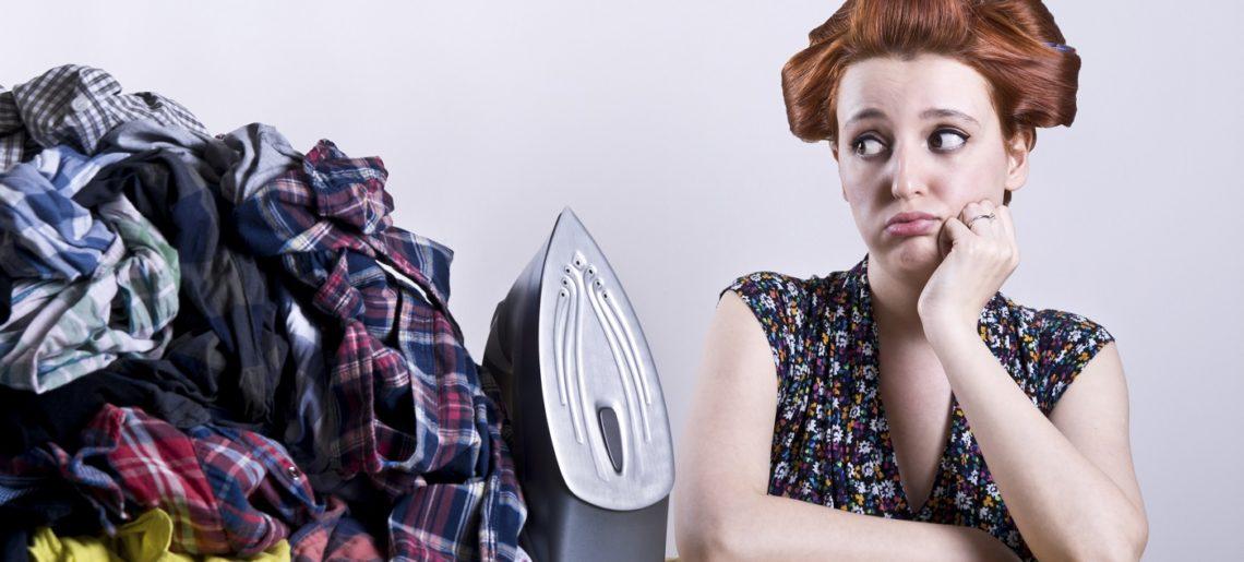IMMAGINE Lavare e stirare i panni? No grazie, sto cercando di smettere